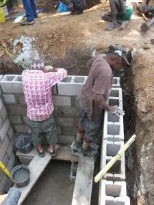 Building the septic tank