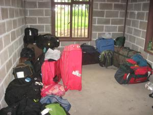 Group three's suitcases ready to go